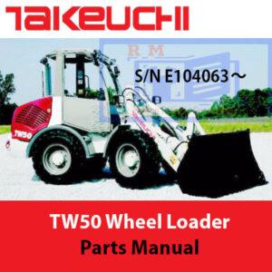 Takeuchi TW50 Wheel Loader Parts Manual