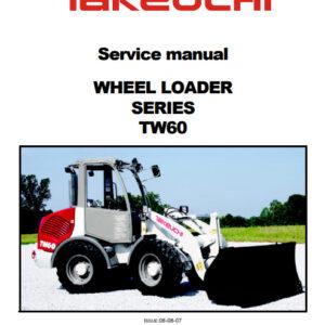 Takeuchi TW60 Wheel Loader Service Repair Manual