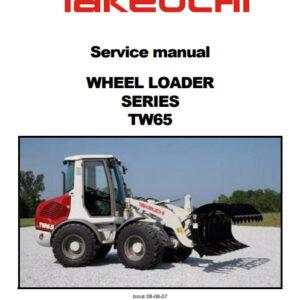 Takeuchi TW65 Wheel Loader Service Repair Manual
