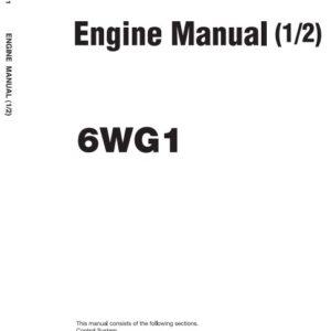 Isuzu 6WG1 Engine Manual Related With Hitachi Product