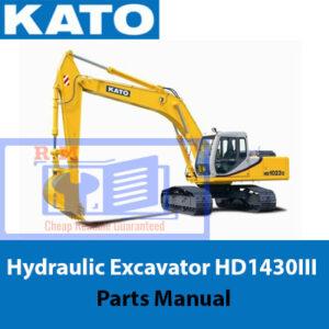 KATO Hydraulic Excavator HD1430III Parts Manual