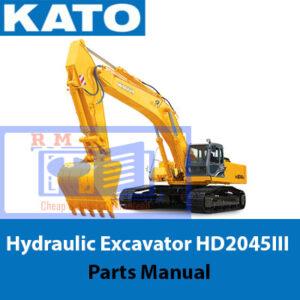 KATO Hydraulic Excavator HD2045III Parts Manual
