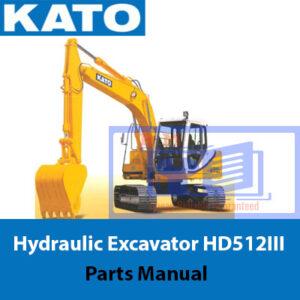 KATO Hydraulic Excavator HD512III Parts Manual