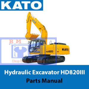 Kato Hydraulic Excavator HD820III Parts Manual