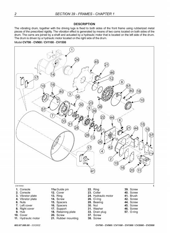 Compactors CV1500 CV2000 CV2500 CV700 CV900 CV1100