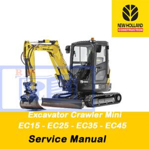 New Holland Excavator Crawler Mini EC15, EC25, EC35, EC45 Service Manual