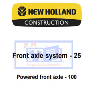 New Holland Front axle system 25, Powered front axle 100