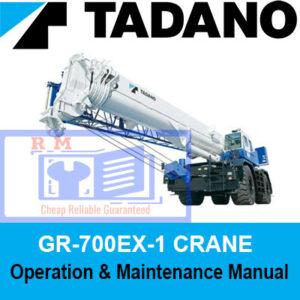Tadano Crane GR-700EX-1 Operation and Maintenance Manual