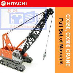 Hitachi Crane CX350, CX500DR Crane Full Set of Manuals