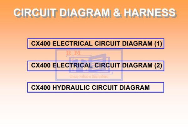 Hitachi Crane CX400 manual pdf