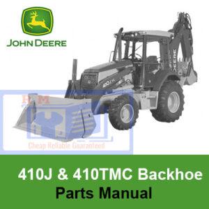 John Deere 410J and 410TMC Backhoe Loader Parts Manual