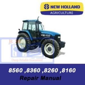 New Holland 8160, 8260, 8360, 8560 Tractor Repair Manual