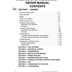 New Holland Backhoe Loader 455D, 555D, 575D, 655D, 675D Engine Repair Manual