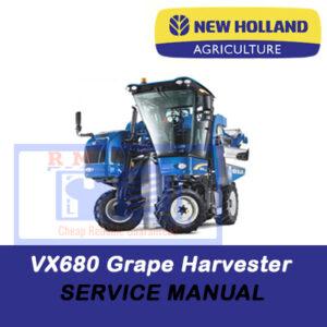 New Holland VX680 Grape Harvester Service Manual