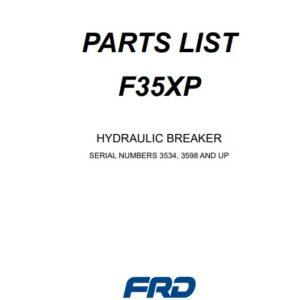 Furukawa F35 XP hydraulic Breaker Parts Manual