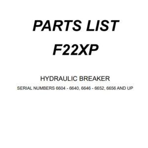 Furukawa F22 XP hydraulic Breaker Parts Manual