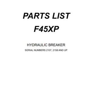 Furukawa F45 XP hydraulic Breaker Parts Manual