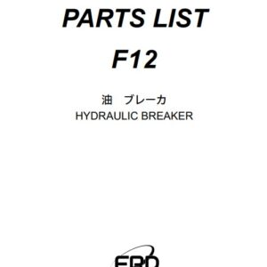 Furukawa F12 hydraulic Breaker Parts Manual