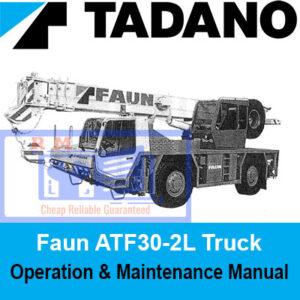 Tadano Faun ATF30-2L Truck Crane Operation and Maintenance Manual