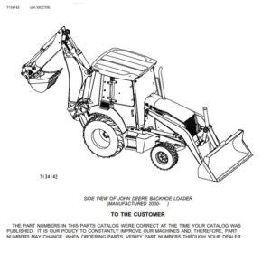 John Deere 410G Backhoe Loader Parts Manual