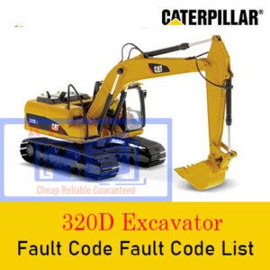 Caterpillar 320d Excavator Fault Code Fault Code List