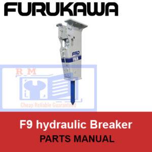 Furukawa F9 hydraulic Breaker Parts Manual