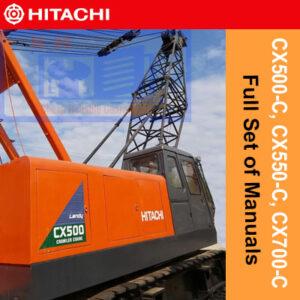 Hitachi Crane CX500-C, CX550-C, CX700-C Full Set of Manuals