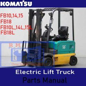 Komatsu Electric Lift Truck FB10.14.15.18 Parts Manual