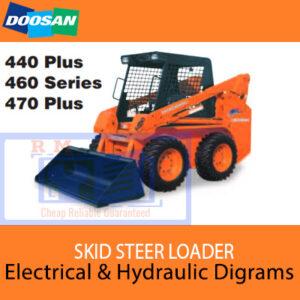 Doosan Skid Steer 430 Series, 440 Plus, 450 Series, 460 Series Diagrams