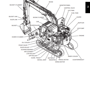 New Holland E160C Blade Runner Crawler Excavator Service Manual