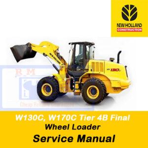New Holland W130C, W170C Tier 4B (final) Wheel Loader Service Manual