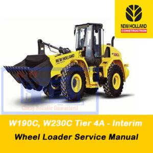 New Holland W190C, W230C Tier 4A (interim) Wheel Loader Service Manual