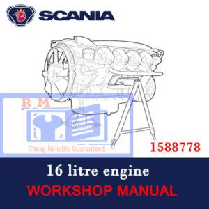 Scania 16 litre engine (1588778) Workshop Manual
