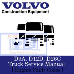 D9A, D12D, D26C Truck Engine Service Manual [ Engine Fault Codes ]