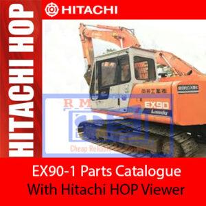 Hitachi EX90-1 Parts Catalogue with Hitachi HOP Viewer