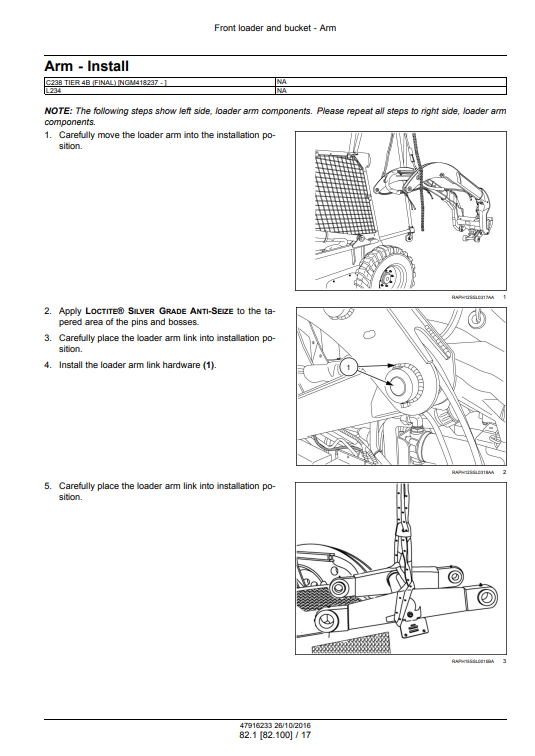 new holland C238 repair manual pdf 1