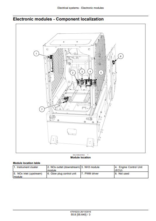 new holland C238 repair manual pdf