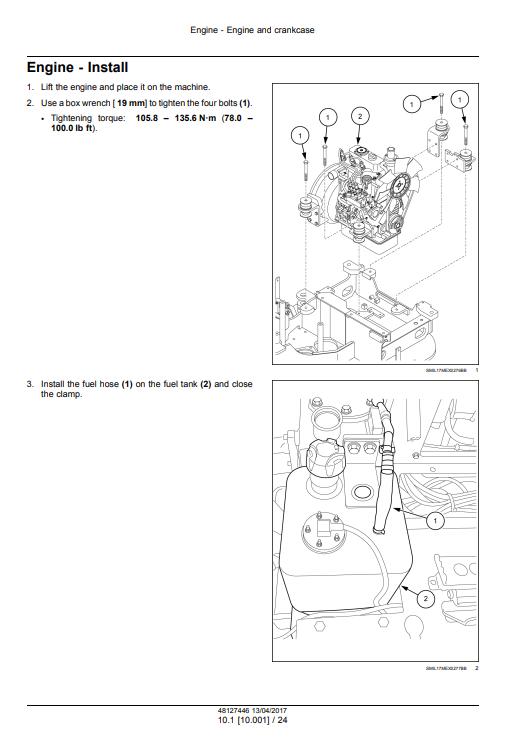 new holland E17C repair manual