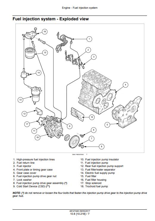 new holland E37C service manual