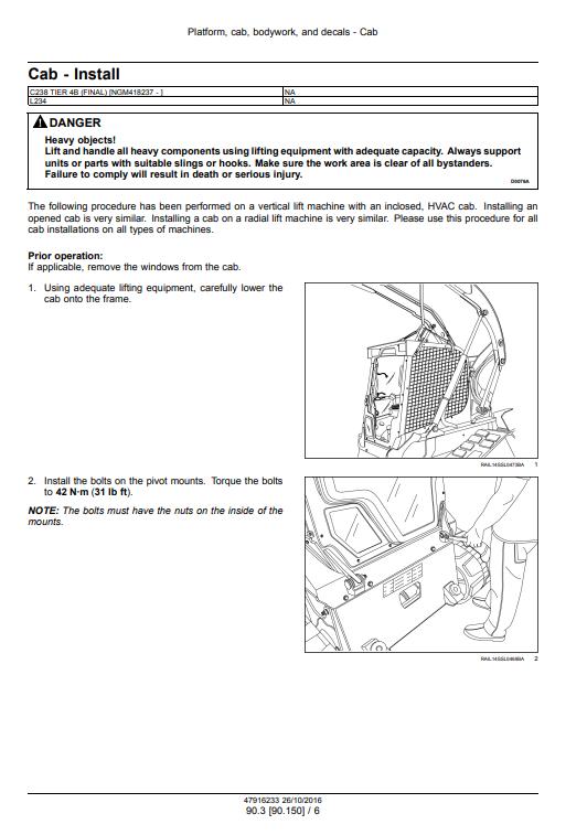 new holland L234 C238 repair manual pdf 3
