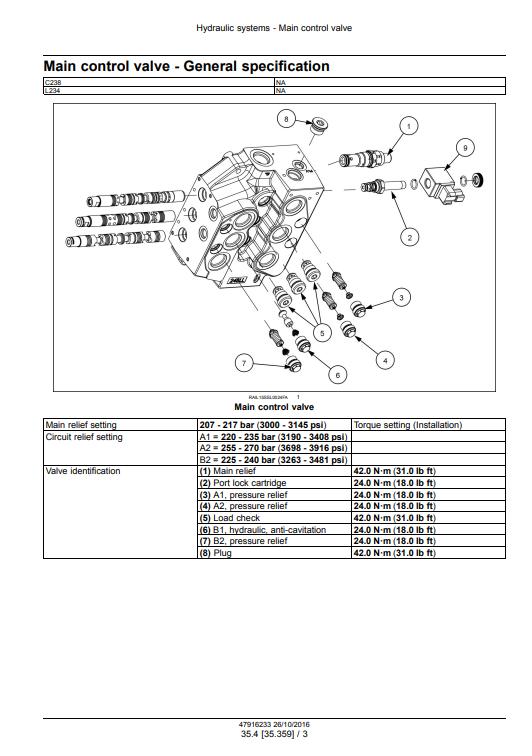 new holland L234 C238 repair manual pdf