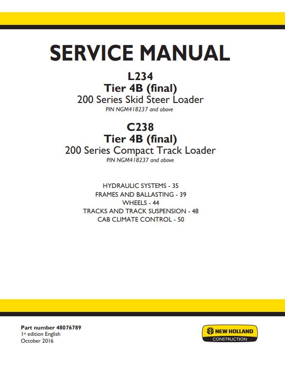 new holland repair manual 1
