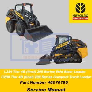 New Holland 200 Series L234 , C238 Loader Service Manual