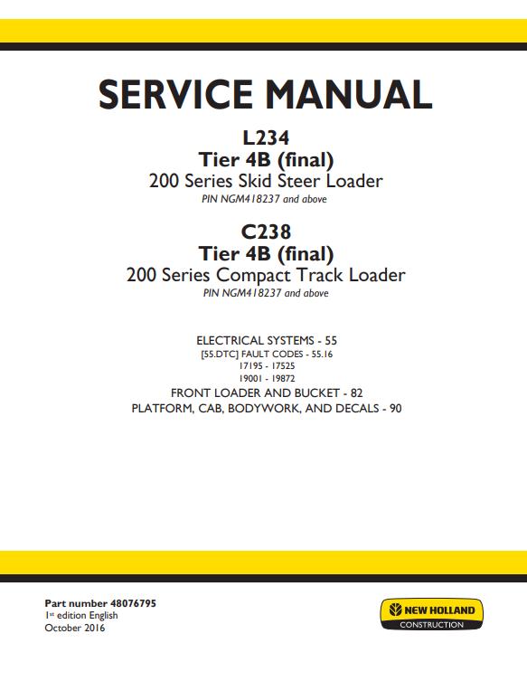 new holland repair manual 4