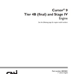 New Holland Cursor 9 Stage IV Engine Service Manual