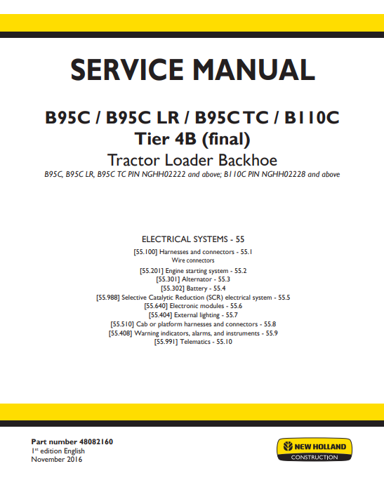 new holland repair manual 7