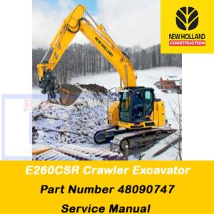 New Holland E260CSR Crawler Excavator Service Manual