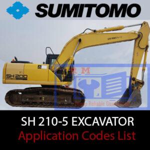 Sumitomo Sh210-5 Application Codes List