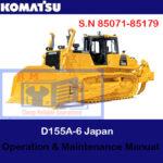 Komatsu D155A-6 Japan Bulldozer S.N 85071-85179 Operation and Maintenance Manual