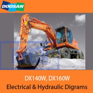 Doosan DX140W Electrical & Hydraulic Diagrams